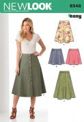6346 New Look Pattern: Ladies' Easy to Sew Skirts